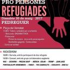 Jornada de solidaritat i en defensa dels drets humans dels refugiats.