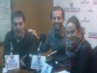 Jorge con Miguel Yuste e Itziar Sauto