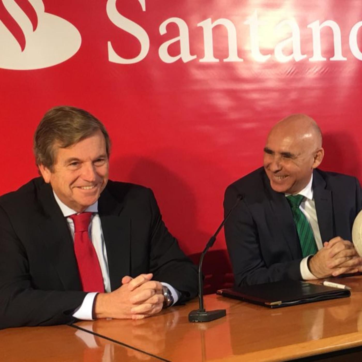 Rueda de prensa presentaci n patrocinio al racing del for Sucursales banco santander en roma italia