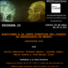 El Cronovisor. Programa 24. Elecciones a la Junta Directiva del Colegio de Arqueólogos de Madrid, Candidatura GIPA.