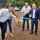 Inauguración obra Cordón Cuneta Barrio Centenario