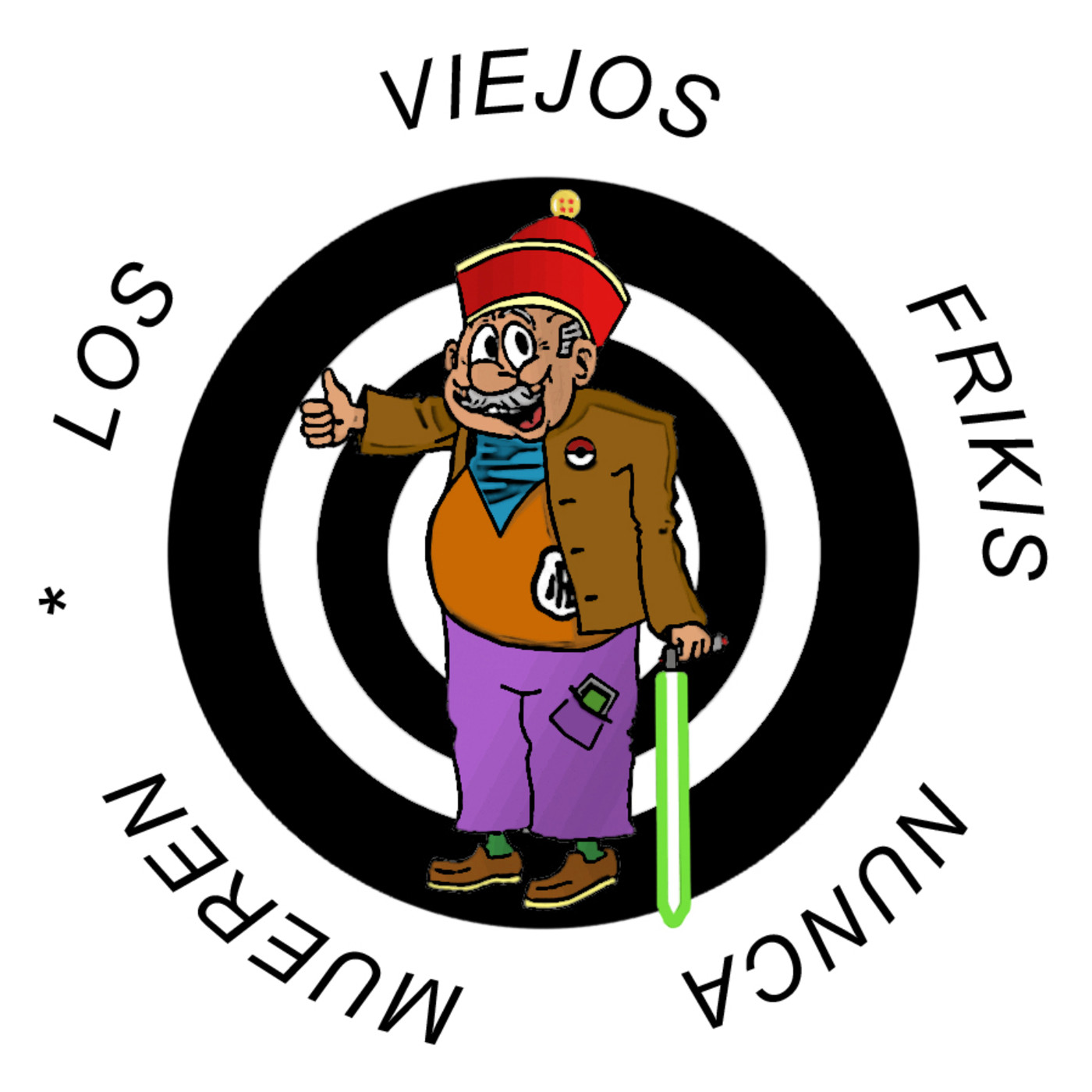 Logo de Los Viejos Frikis Nunca Mueren