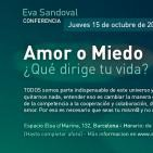 """73 Programa Más Allá de la Tierra Radio, 2º/9 Conferencia Eva Sandoval """"Amor o Miedo"""" Barcelona 15/10/15."""