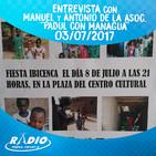 Entrevista con Manuel y Antonio de la Asociación ''Padul con Managua'' - 03-07-2017