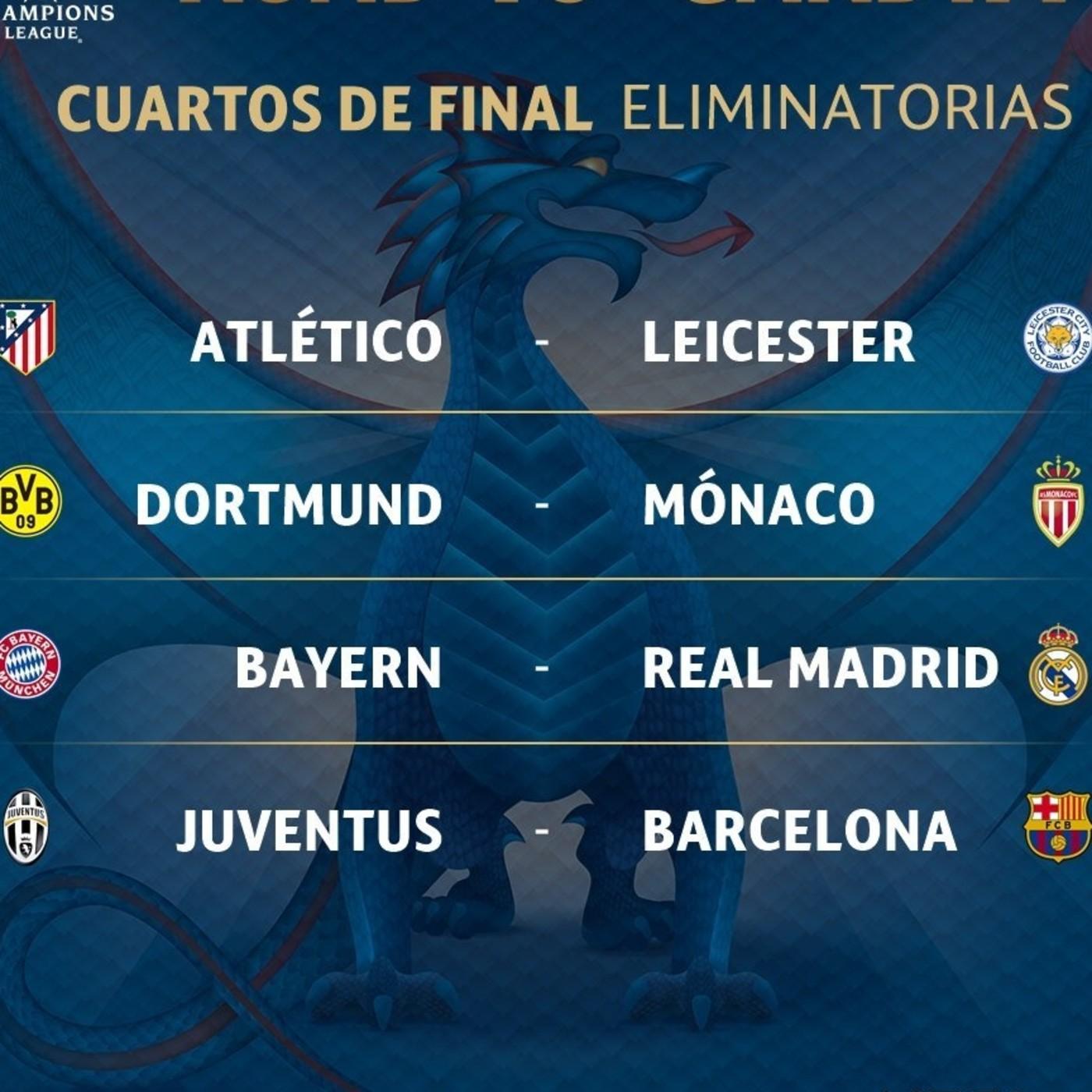 Definen cuartos de final de la uefa champions league en for Champions cuartos de final